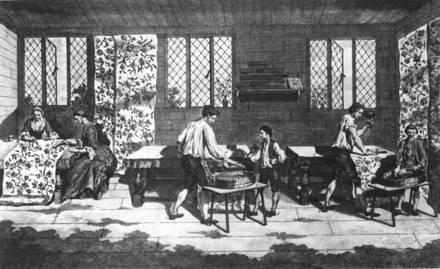 Zeugdruck Ende des 18. Jahrhunderts